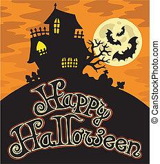1, thème, halloween, heureux