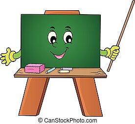 1, thème, heureux, image, schoolboard