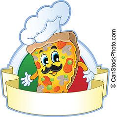 1, thème, image, pizza