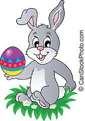 1, thème, lapin pâques, image