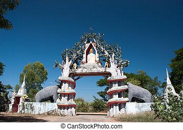 1, thai, wejście, świątynia