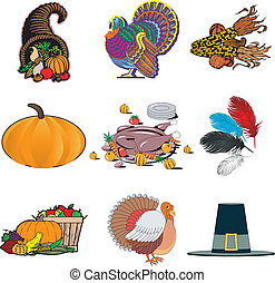 1, thanksgiving, icônes