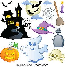 1, thema, halloween, verzameling