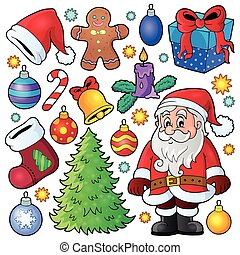 1, thema, kerstmis, verzameling
