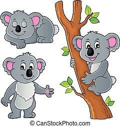 1, thema, koala, verzameling