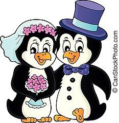 1, thema, pinguin, bild, wedding