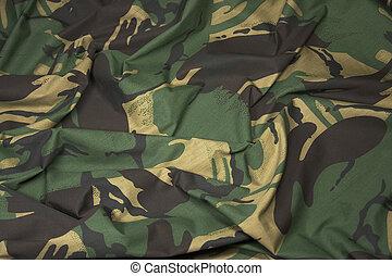 1, tissu, camouflage