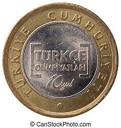 1 Turkish lira coin, 2012, face
