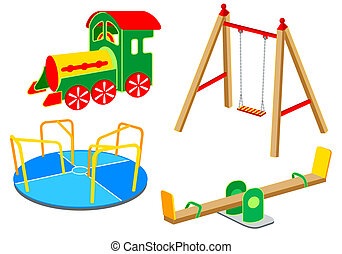 1, uitrusting, set, speelplaats, |