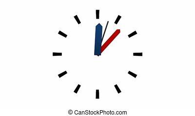 1, -, uur, klok