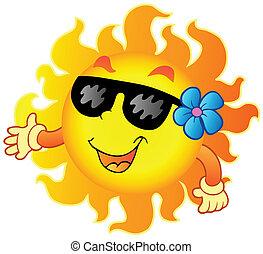 1, verão, feliz, sol