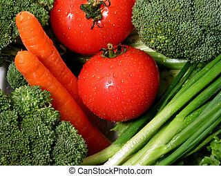 1, verduras frescas