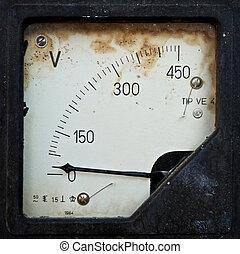 1, vieux, électrique, panneau