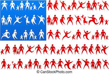 1, vlag, menselijk, usa, iconen