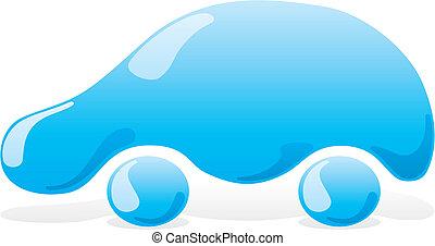 1, voiture, vecteur, laver, icône
