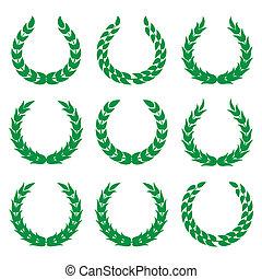 1, wawrzyny, zielony