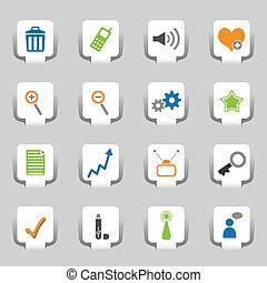 1, web, 16, parte, icone