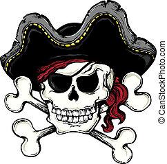 1, weinlese, thema, pirat, totenschädel