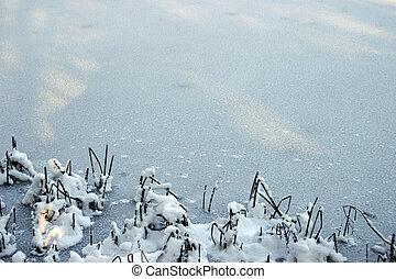 1, winter, achtergrond