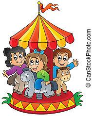 1, wizerunek, temat, carousel