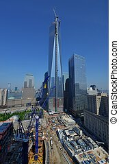 1 World Trade Center Construction - View looking East at the...