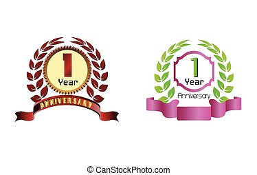 1 years anniversary laurel wreath