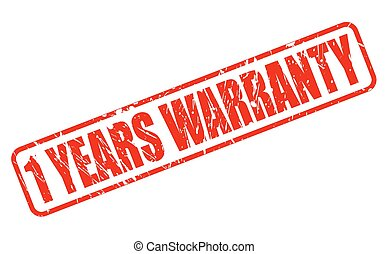 1 YEARS WARRANTY red stamp text