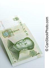 yuan bank note - 1 yuan bank note close up
