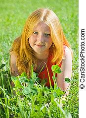 10代少女, 草