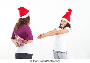 10代少女, 請求, 贈り物, 母