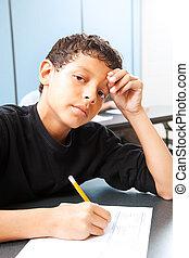 10代少年, -, テスト, 心配