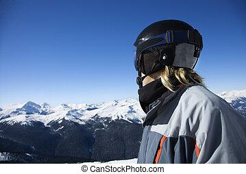 10代少年, snowboarder.