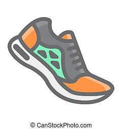 10., παπούτσια , γραφικός , πρότυπο , γυμναστήριο , eps , σήμα , αγώνισμα , φόντο , τρέξιμο , μικροβιοφορέας , καταλληλότητα , graphics , εικόνα , γραμμή , άσπρο , γέμισα , περίγραμμα