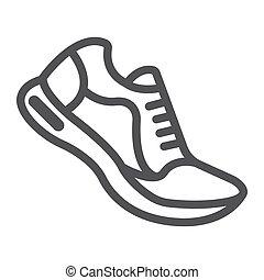 10., παπούτσια , πρότυπο , γυμναστήριο , eps , σήμα , αγώνισμα , εικόνα , τρέξιμο , μικροβιοφορέας , καταλληλότητα , graphics , γραμμή , αγαθός φόντο , γραμμικός