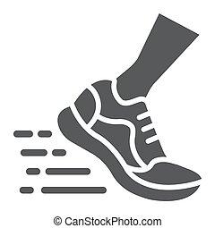 10., παπούτσια , σήμα , πρότυπο , eps , γρήγορα , αγώνισμα , στερεός , τρέξιμο , μικροβιοφορέας , υπόδηση , graphics , εικόνα , άσπρο , αγώνισμα , φόντο , glyph