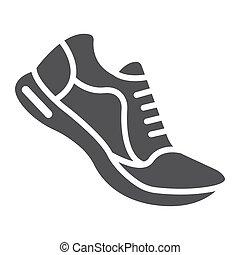 10., παπούτσια , στερεός , πρότυπο , γυμναστήριο , eps , σήμα , αγώνισμα , εικόνα , τρέξιμο , μικροβιοφορέας , καταλληλότητα , graphics , αγαθός φόντο , glyph