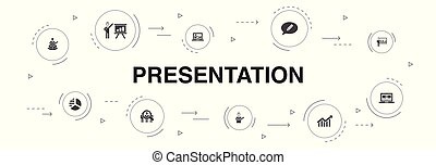 10, アイコン, プレゼンテーション, template.lecturer, ステップ, ビジネス, infographic, プレゼンテーション, topic, 図
