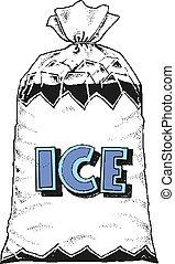 10, パッケージ, eps, イラスト, ベクトル, デザイン, 氷