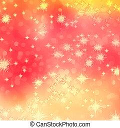 10, ロマンチック, 抽象的, eps, stars., オレンジ