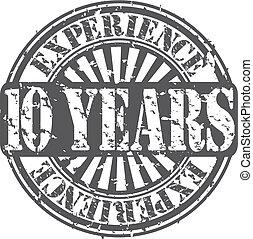 10, 年, グランジ, 経験, rubbe