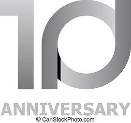 10, 年, 数, 記念日
