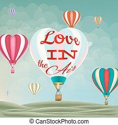 10, 心の形をしている, eps, 空気, 暑い, balloons.