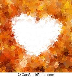 10, 愛, leaves., 含む, また, 秋, eps