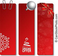 10, 提供, -, eps, ベクトル, 旗, クリスマス