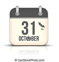 10 月, 反射。, 31, ハロウィーン, カレンダー, アイコン