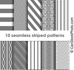 10, 有條紋, 矢量,  seamless, 圖樣