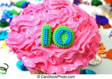 10, 祝福, -, 数, cupcake