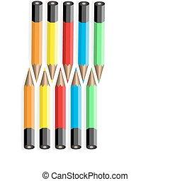 10, 色, pencils.vector