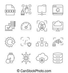 10, 기술, usability, apps, interfaces, 디지털, editable, eps, 경험, symbols., 사용자, 표시, stroke.