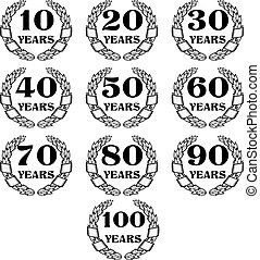 10-100 anniversary laurel wreath icon4.eps